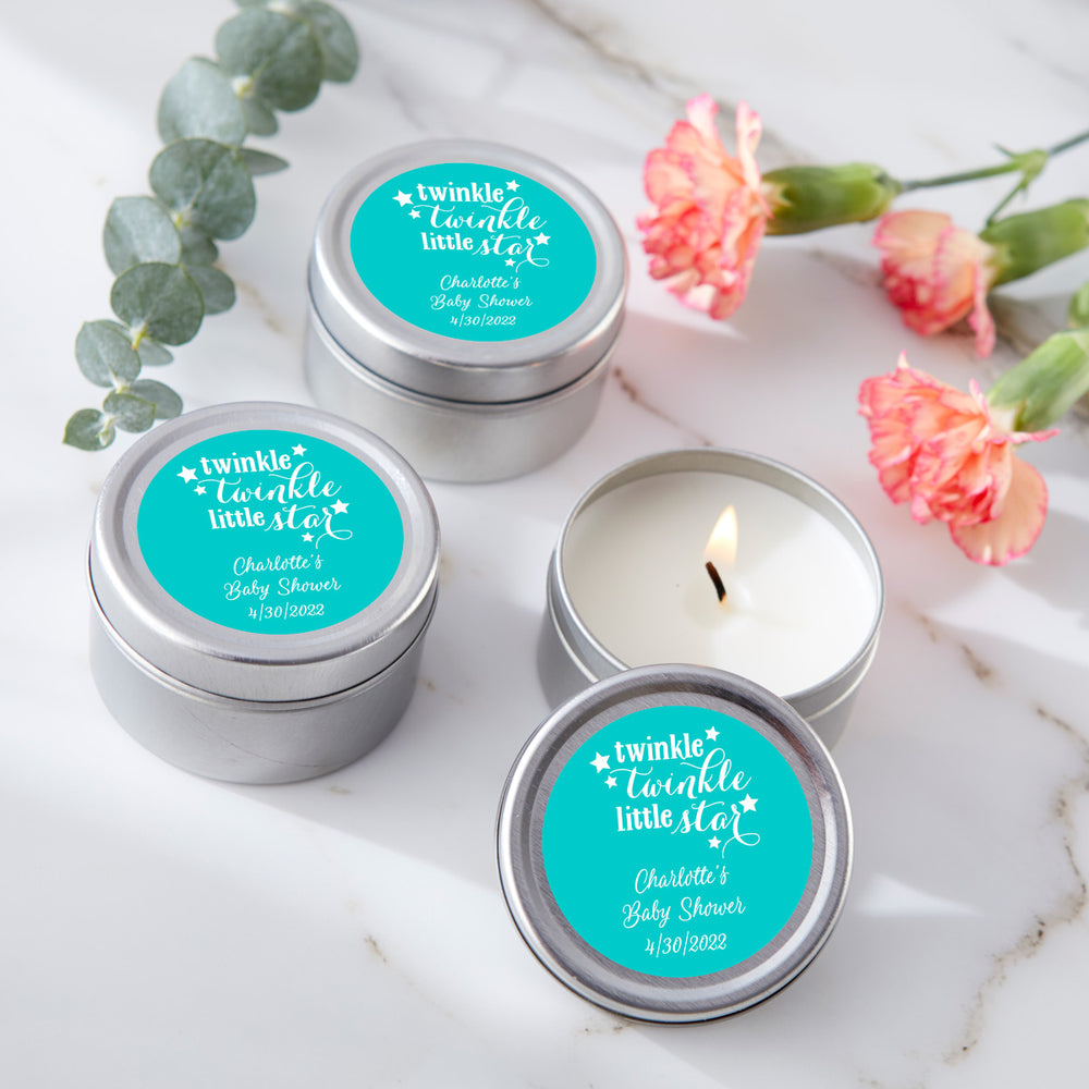 Travel Candle - Baby Shower (Personalization Available)