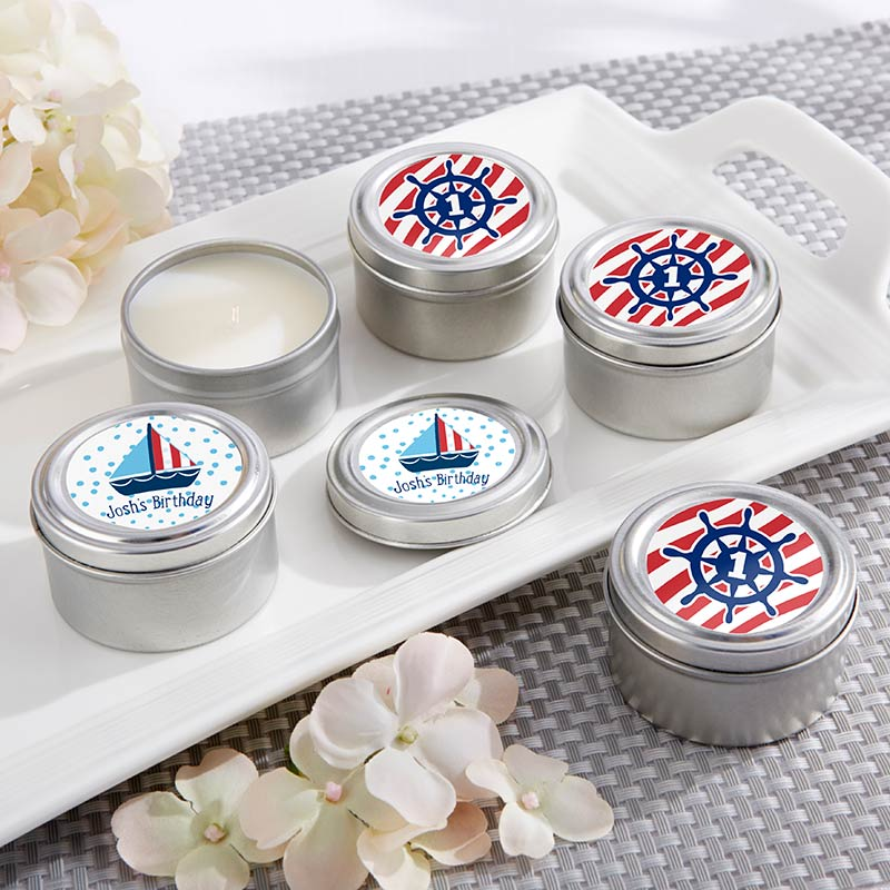 Personalized Travel Candle - Kate's Nautical Birthday Collection