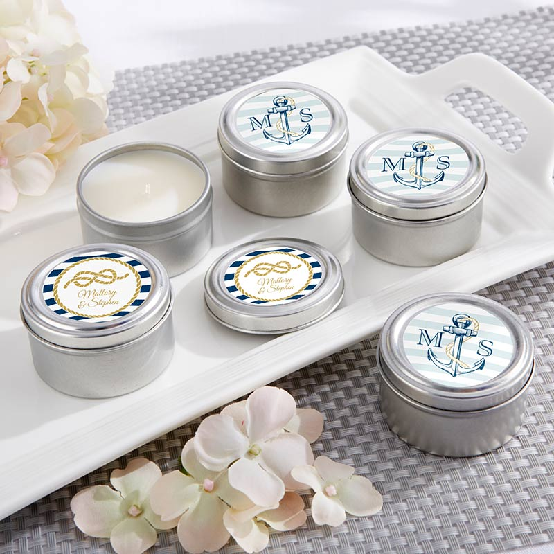 Personalized Travel Candle - Kate's Nautical Wedding Collection