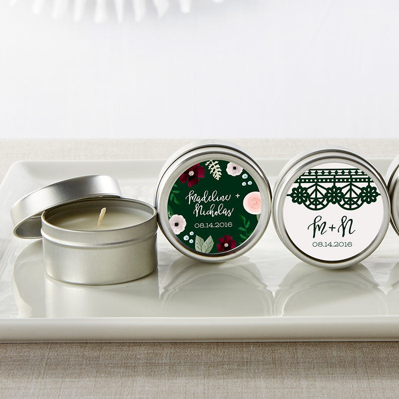 Personalized Travel Candle - Romantic Garden