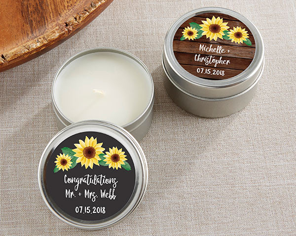 Load image into Gallery viewer, Personalized Travel Candle - Sunflower