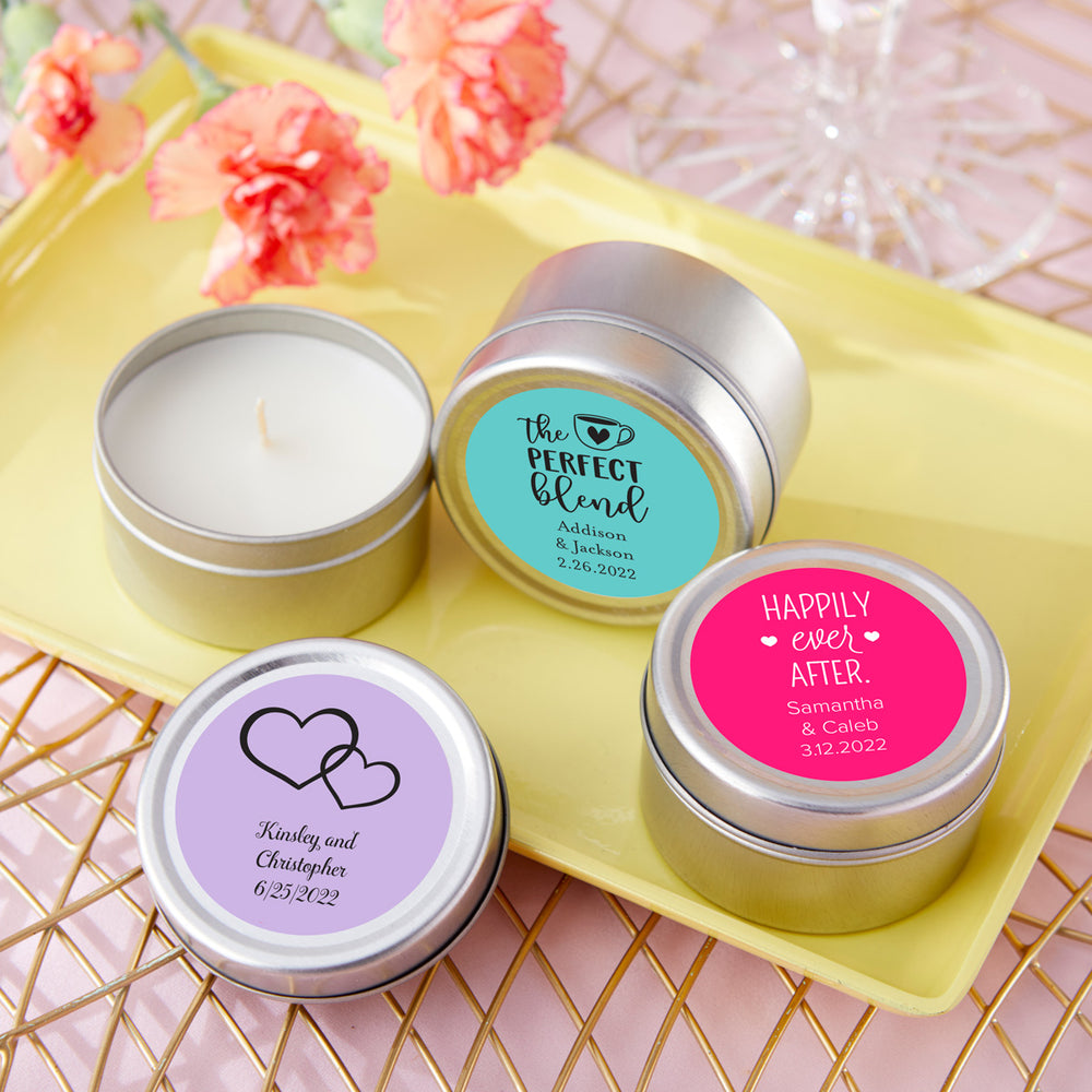 Travel Candle - Wedding (Personalization Available)