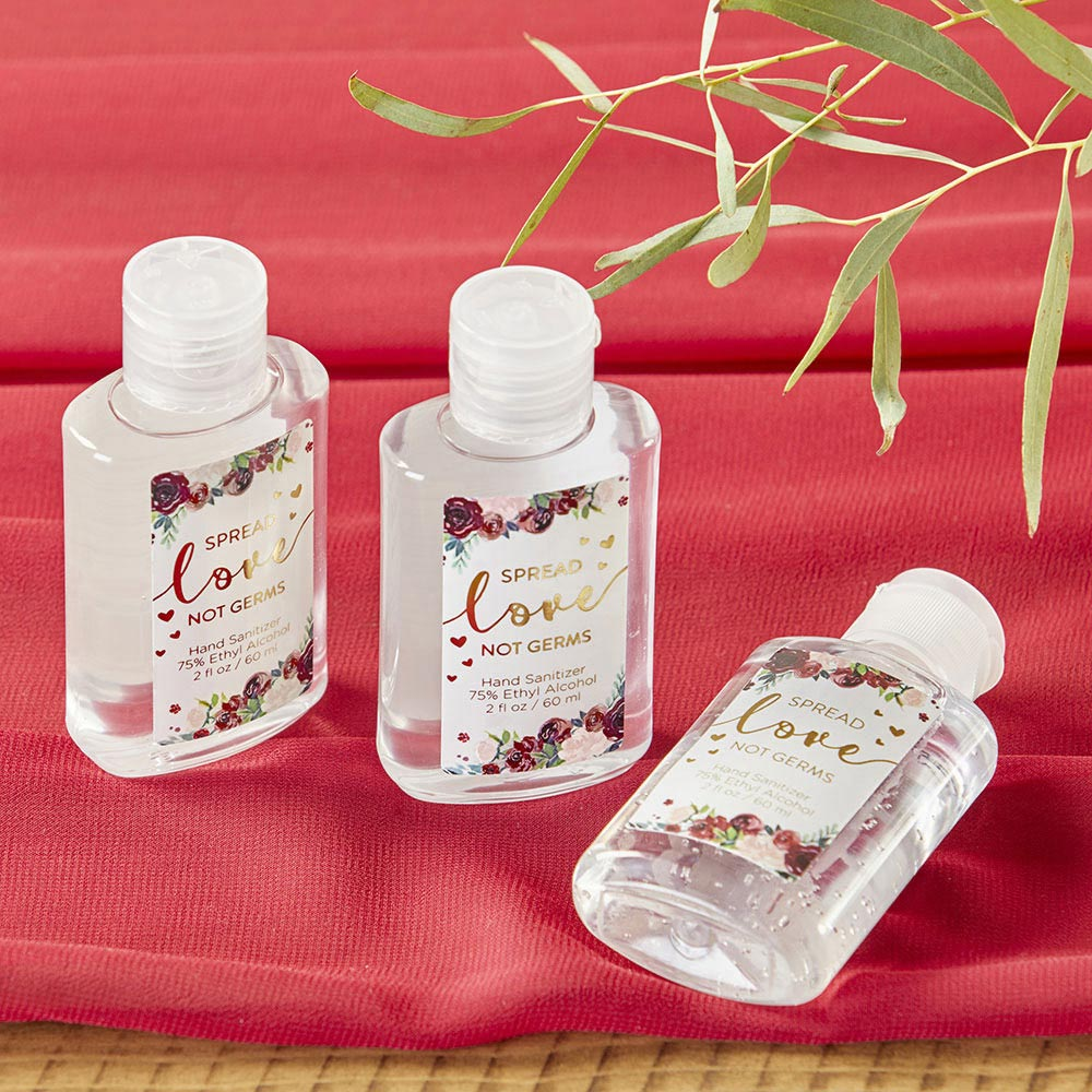 Load image into Gallery viewer, 2 oz. Hand Sanitizer - Burgundy Blush Floral (Set of 12)