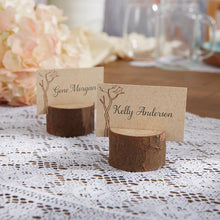Load image into Gallery viewer, Rustic Real-Wood Place Card/Photo Holder (Set of 4)