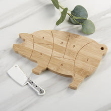 Load image into Gallery viewer, Farmhouse Pig Cheese Board Gift Set