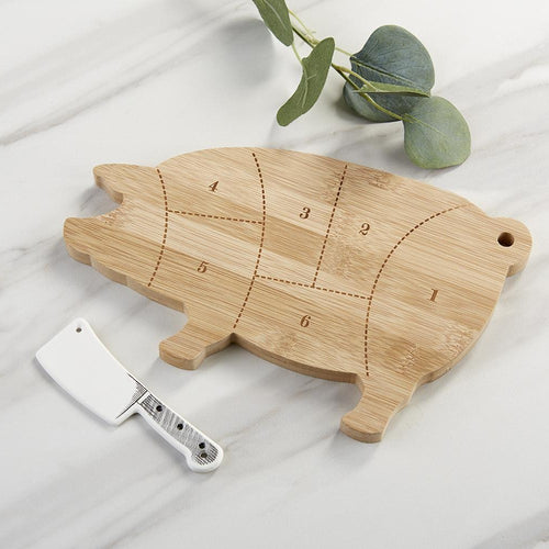 Farmhouse Pig Cheese Board Gift Set