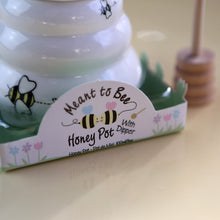 Load image into Gallery viewer, Meant to Bee Ceramic Honey Pot with Wooden Dipper