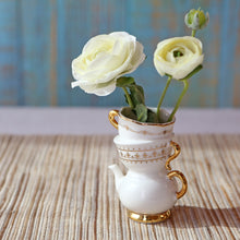 Load image into Gallery viewer, Tea Time Whimsy Ceramic Bud Vase