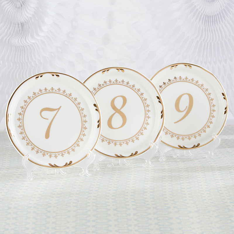 Tea Time Vintage Plate Table Numbers (7-12)