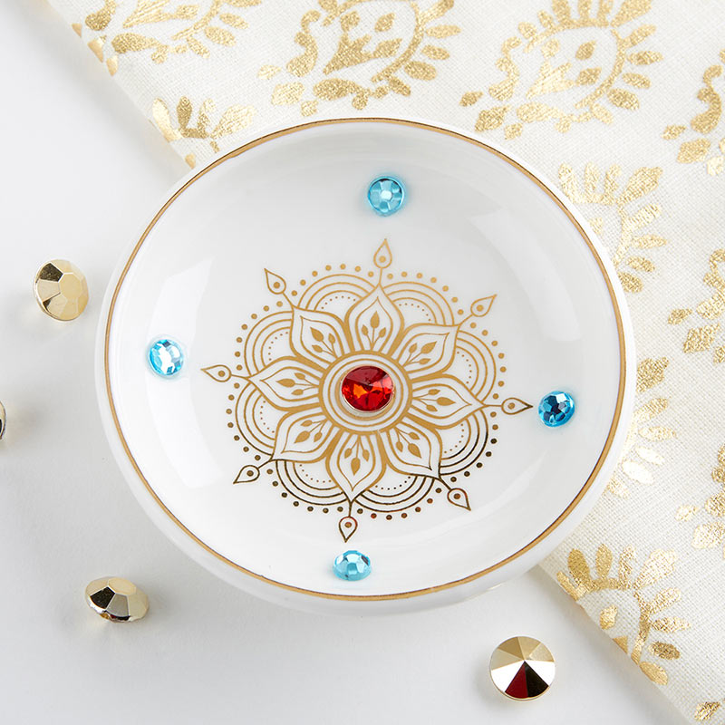 Indian Jewel Trinket Dish Bowl