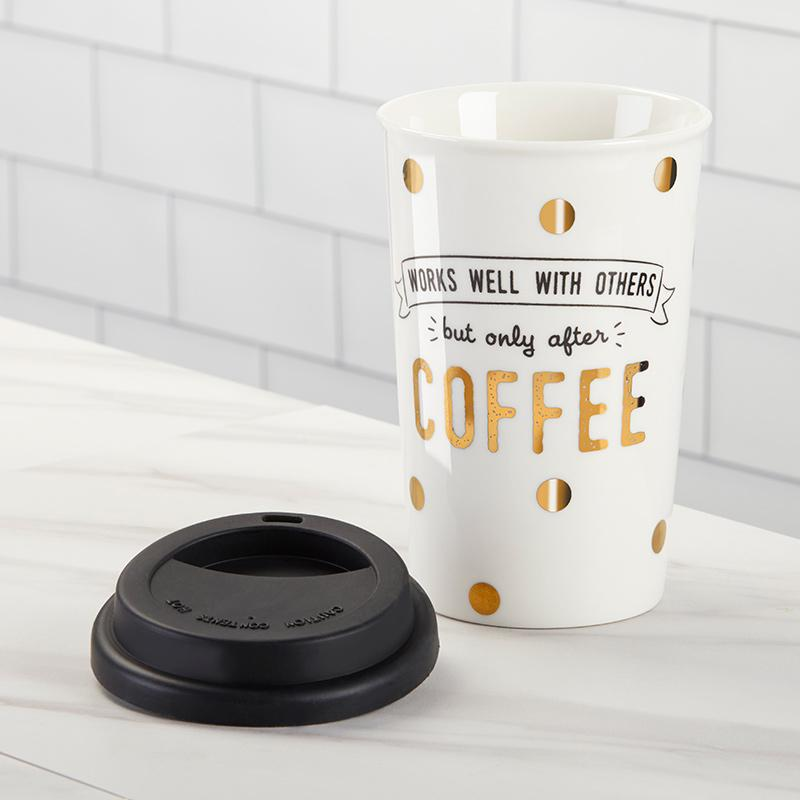 Works Well With Others 15 oz. Ceramic Travel Mug