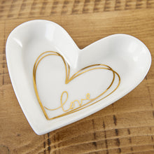 Load image into Gallery viewer, Heart Shaped Trinket Dish - Medium