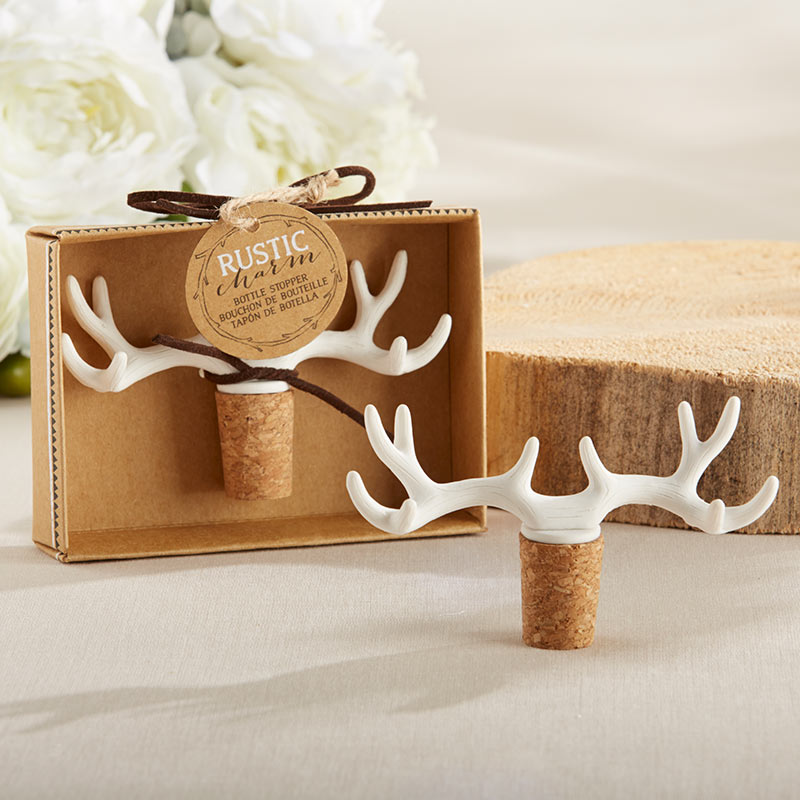 Rustic Charm Antler Bottle Stopper