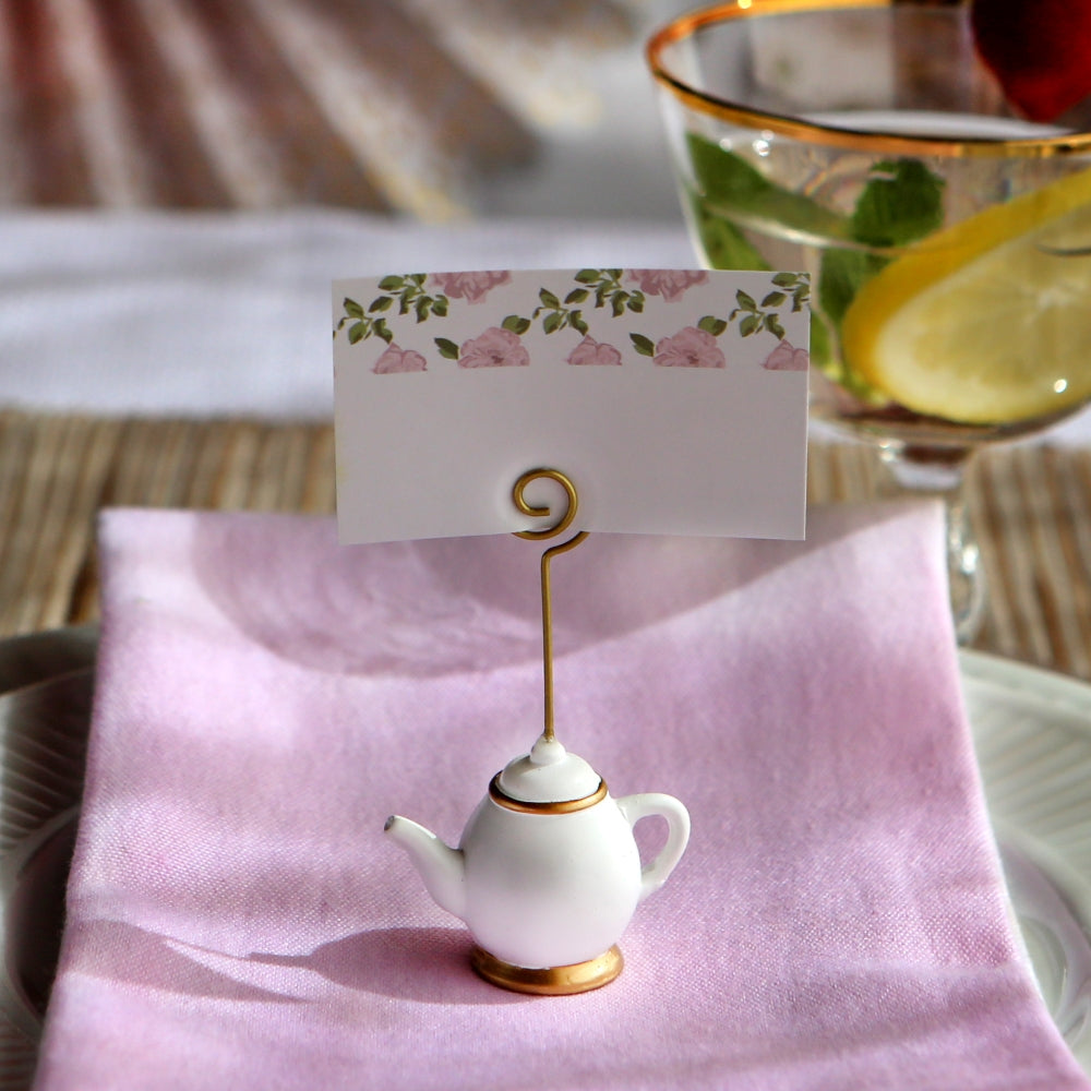 Load image into Gallery viewer, Tea Time Whimsy Place Card Holder (Set of 6)