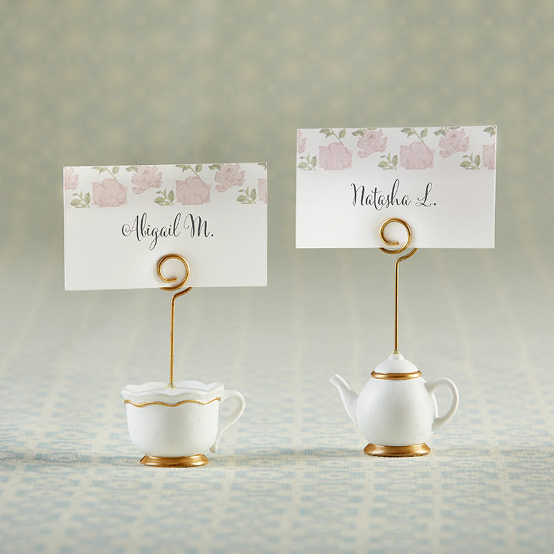 Tea Time Whimsy Place Card Holder (Set of 6)