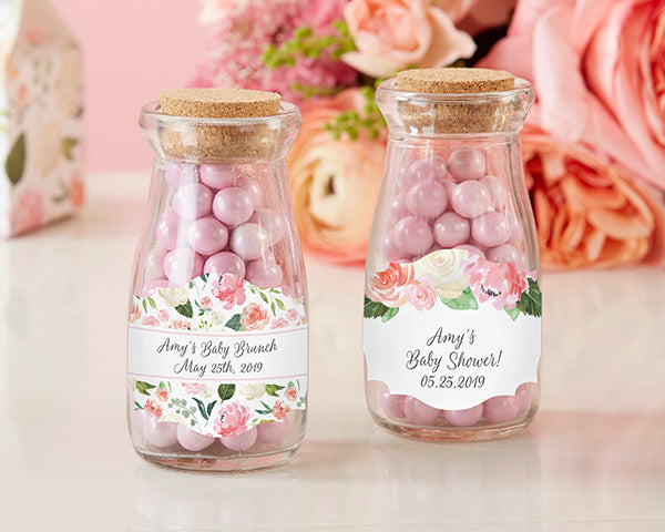 Vintage 3.8 oz. Milk Bottle Favor Jar - Baby Brunch (Set of 12) (Personalization Available)