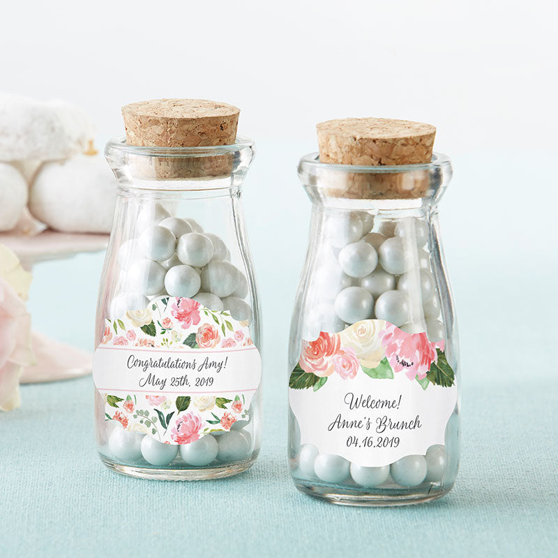 Vintage 3.8 oz. Milk Bottle Favor Jar - Brunch (Set of 12) (Personalization Available)