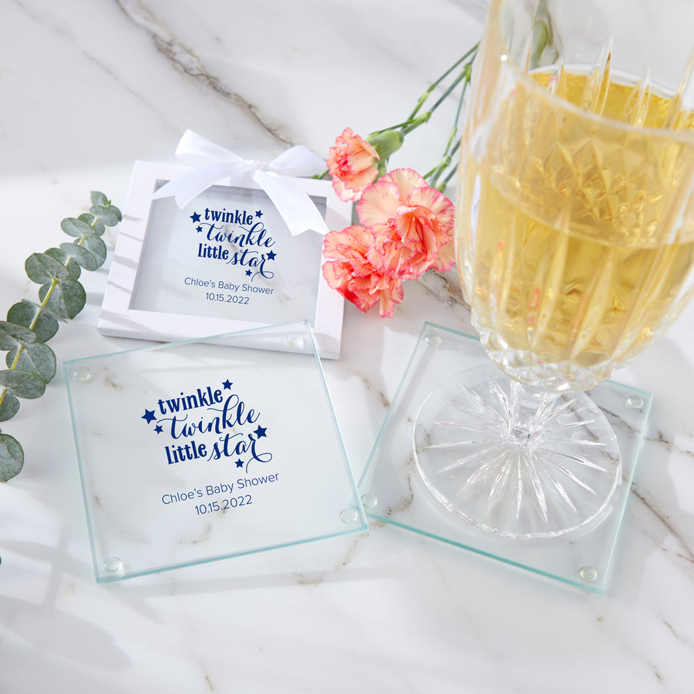 Personalized Glass Coaster - Baby (Set of 12)