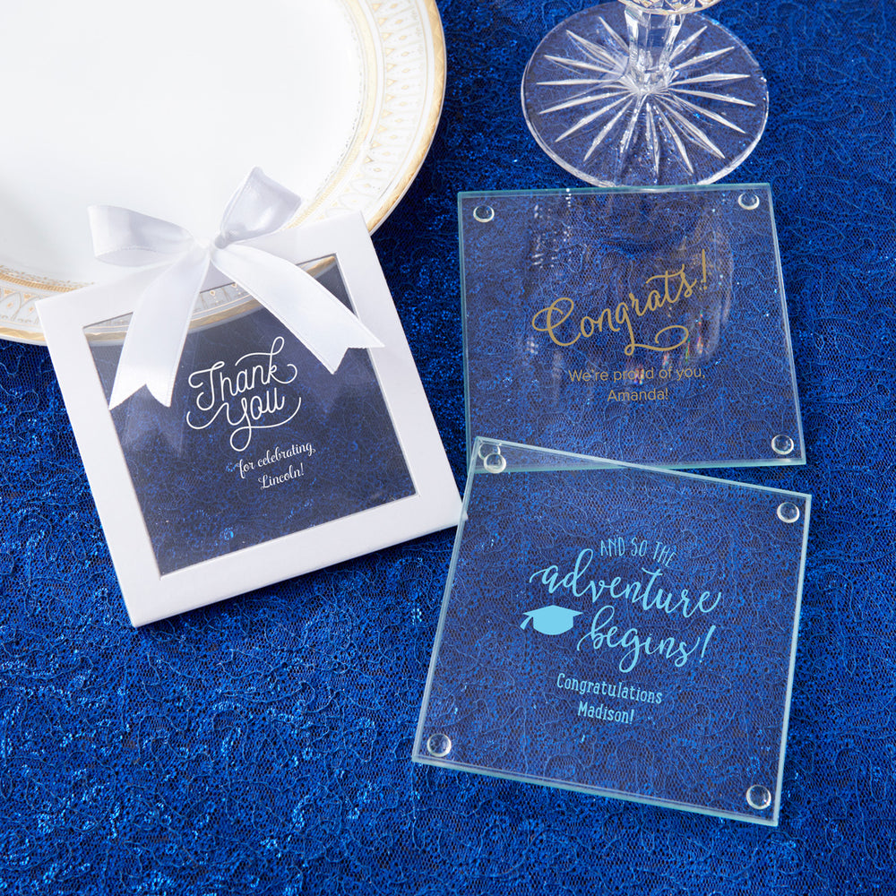 Personalized Glass Coaster - Celebration (Set of 12)