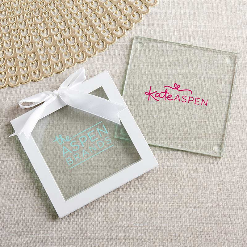 Personalized Glass Coasters - Custom Design (Set of 12)