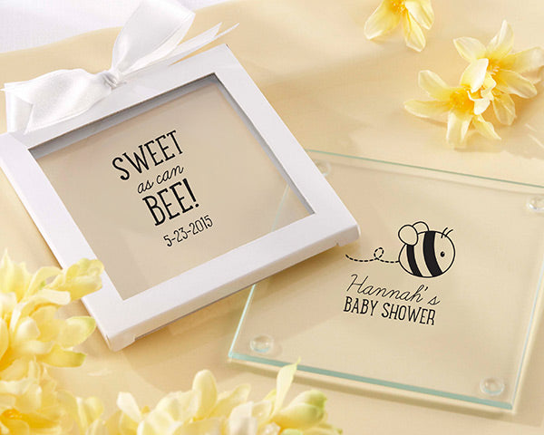 Personalized Glass Coaster - Sweet as Can Bee (Set of 12)