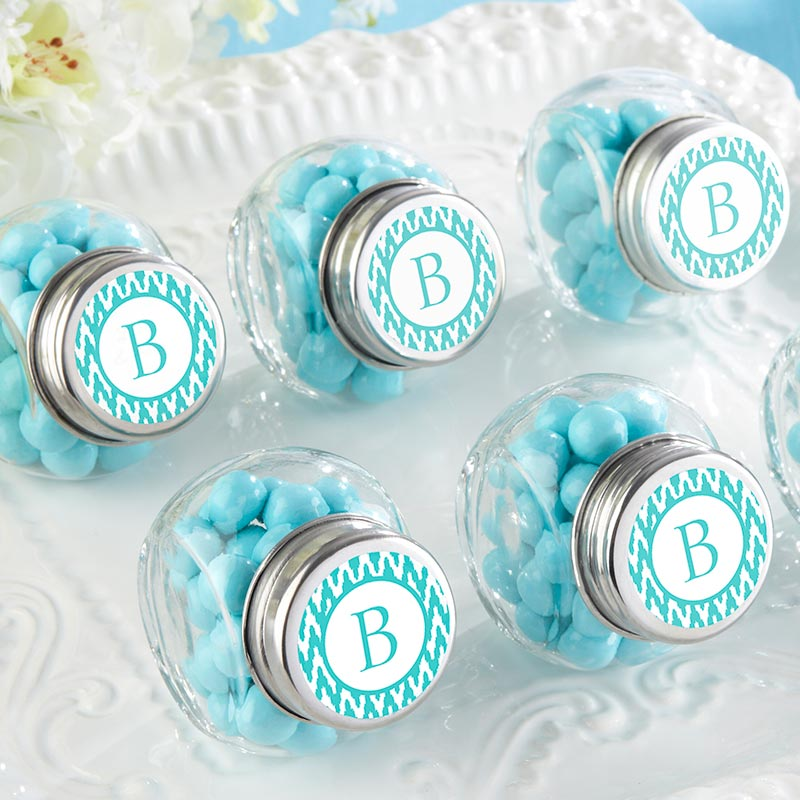 Load image into Gallery viewer, Mini Glass Favor Jar - Baby (Set of 12) (Available Personalized)