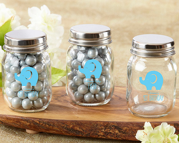 Personalized Printed  Mini Mason Jar - Little Peanut (Set of 12)