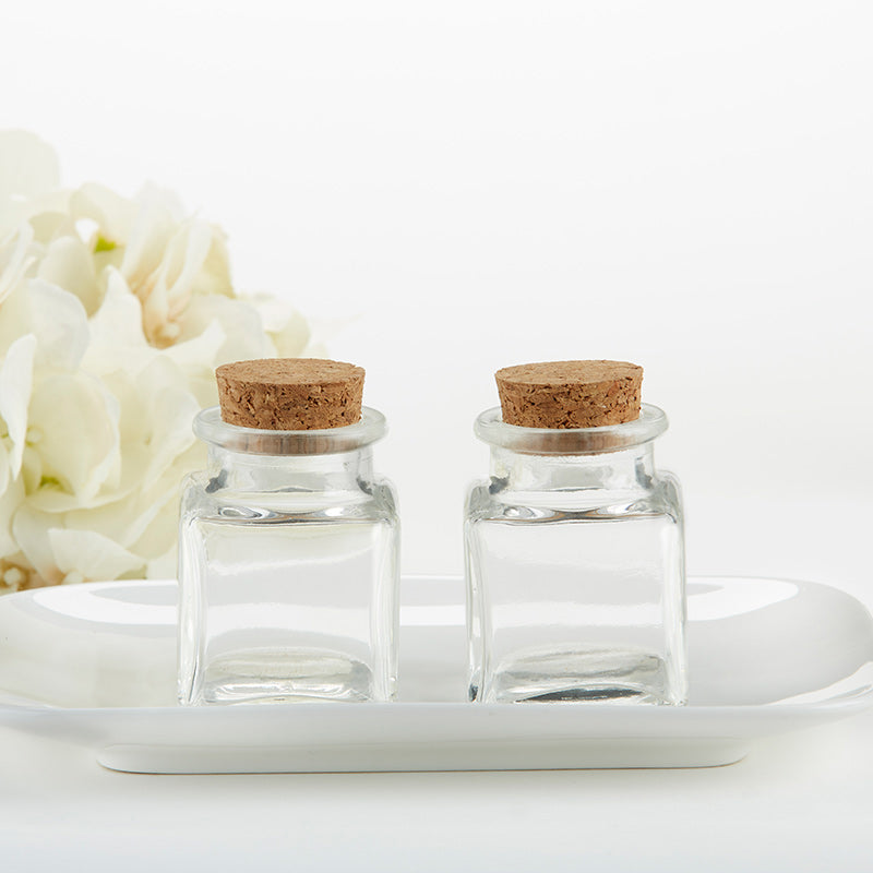 Petite Square Glass Favor Jar - DIY (Set of 12)