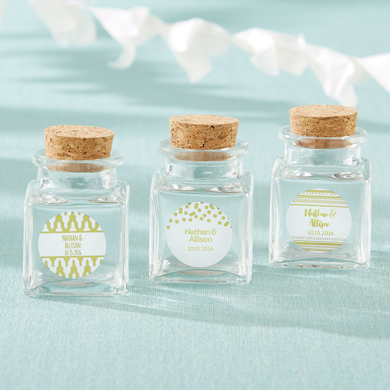 Petite Treat Square Glass Favor Jar - Gold Foil (Set of 12)