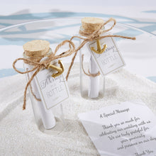 Load image into Gallery viewer, Message in a Bottle Glass Favor Bottle (Set of 12)