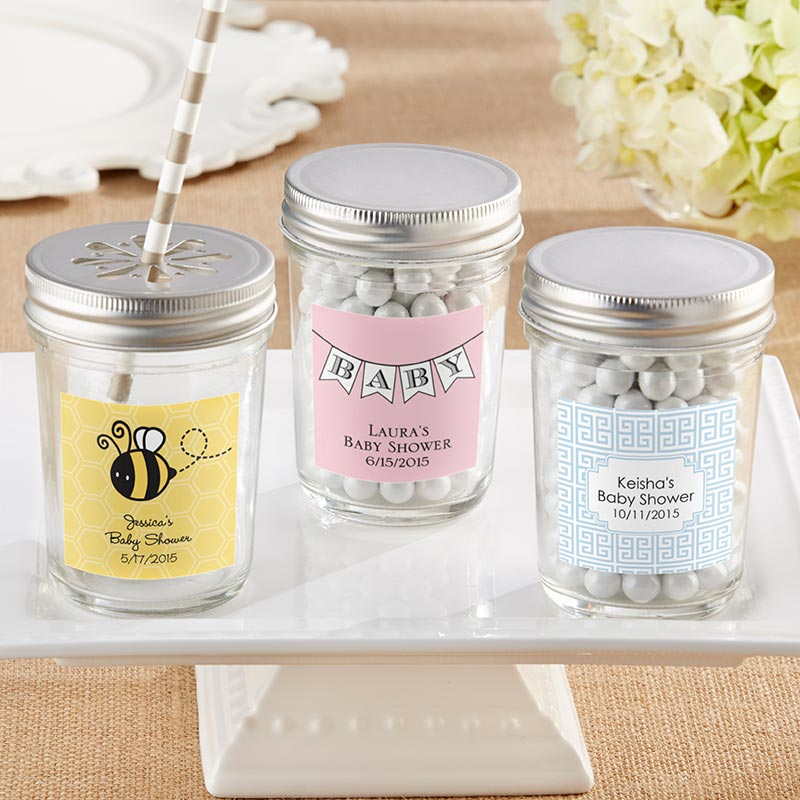 Personalized 8 oz. Glass Mason Jar - Baby (Set of 12)