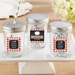 Personalized 8 oz. Glass Mason Jar - BBQ (Set of 12)