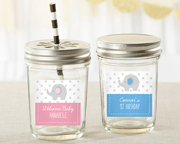 Personalized 8 oz. Glass Mason Jar - Little Peanut (Set of 12)