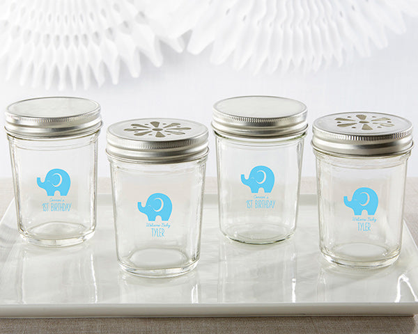 Personalized Printed 8 oz. Glass Mason Jar- Little Peanut (Set of 12)