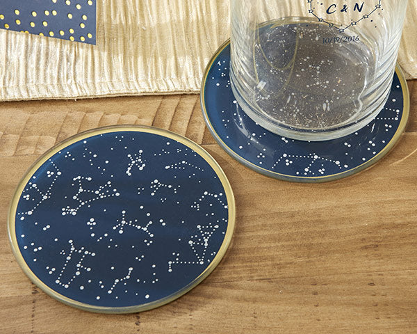 Load image into Gallery viewer, Under the Stars Glass Coaster (Set of 2)
