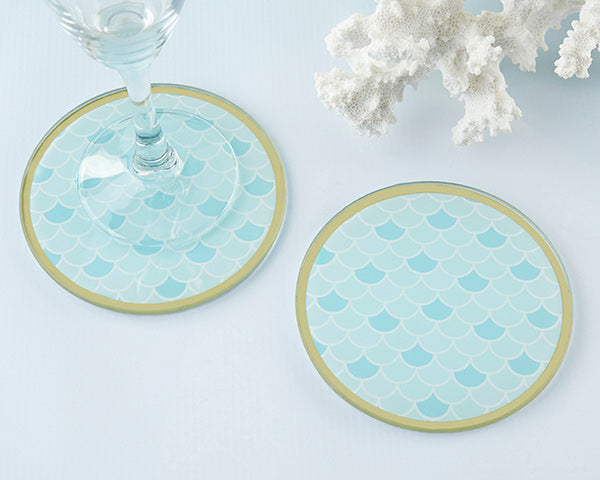 Seaside Escape Glass Coaster (Set of 2)