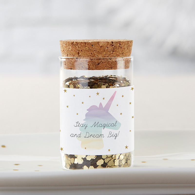 Personalized Glass Tube Jar - Enchanted Party (Set of 12)