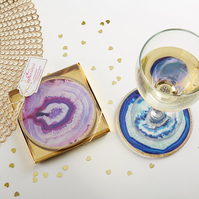 Geode Glass Coaster (Set of 2)