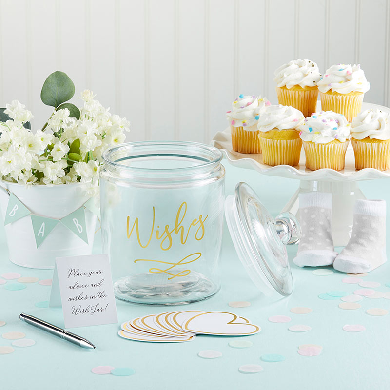 Wish Jar with Heart Shaped Cards