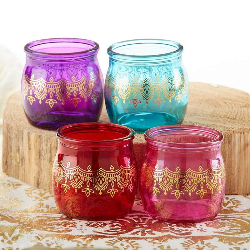 Indian Jewel Henna Tea Light Holder - Assorted (Set of 4)