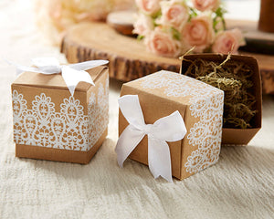 "Rustic & Lace"" Kraft Favor Box (Set of 24)"