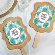 Load image into Gallery viewer, Personalized Kraft Fan - Tropical Chic (Set of 12)