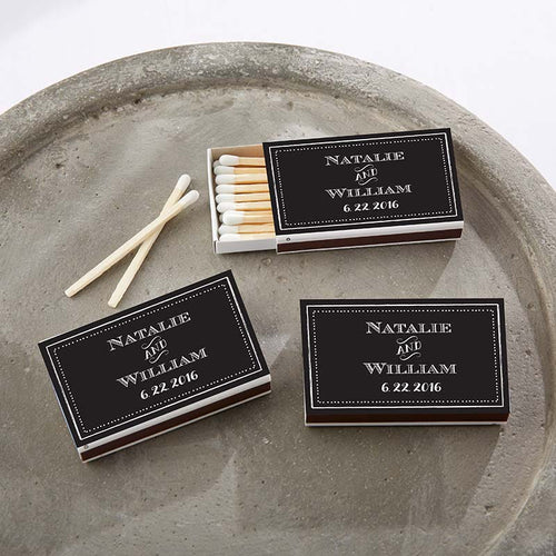 Personalized White Matchboxes - Chalk (Set of 50)