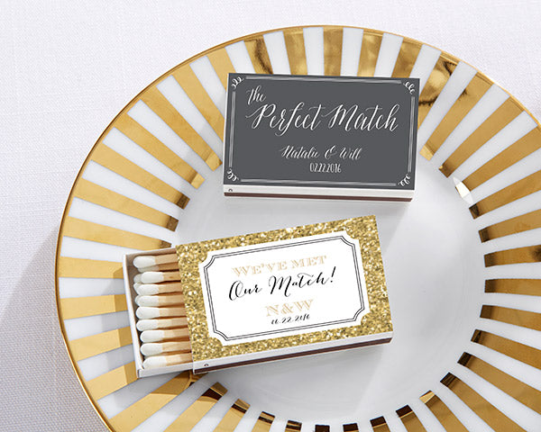 Load image into Gallery viewer, Personalized White Matchboxes - Wedding Day Designs (Set of 50)