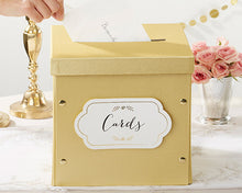 Load image into Gallery viewer, Gold Glitter Collapsible Card Box