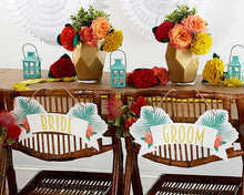 Load image into Gallery viewer, Tropical Chic Bride & Groom Chair Signs