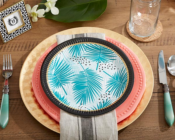 Load image into Gallery viewer, Tropical Chic 9 in. Paper Plates (Set of 8)