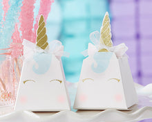 Load image into Gallery viewer, Unicorn Favor Box (Set of 12)