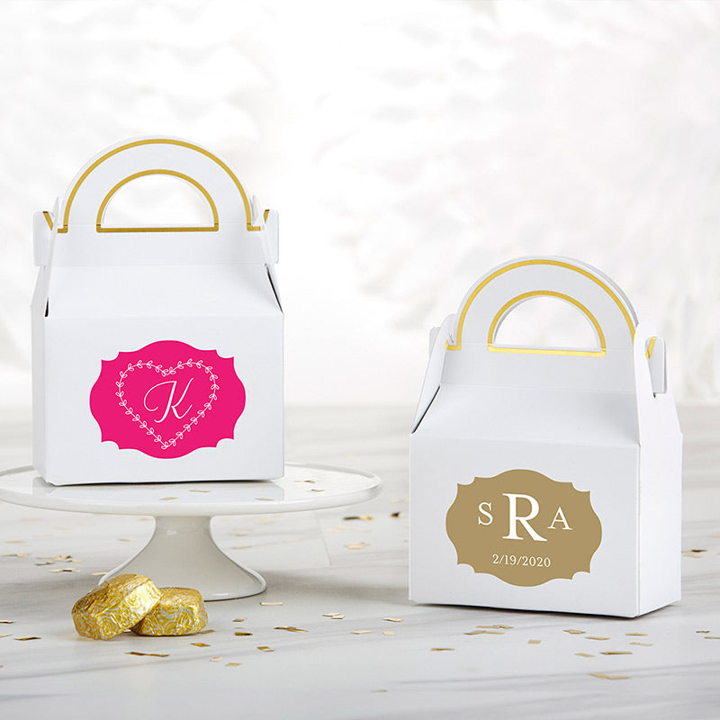 Personalized Gable Favor Box - Monogram (Set of 12)
