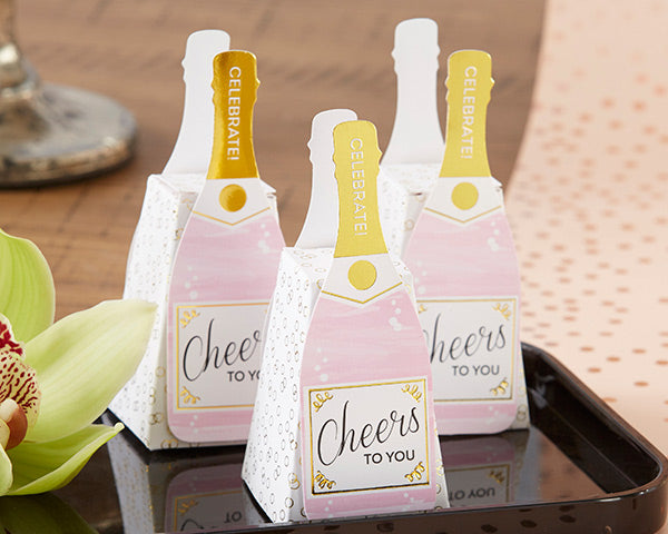 Load image into Gallery viewer, Pink Champagne Favor Box (Set of 12)